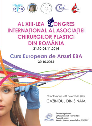CONGRESUL INTERNATIONAL AL ASOCIATIEI CHIRURGILOR PLASTICI DIN ROMANIA