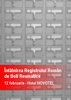 INTALNIREA REGISTRULUI ROMAN DE BOLI REUMATICE