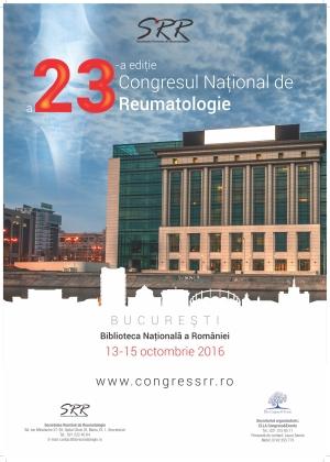 CONGRESUL NATIONAL DE REUMATOLOGIE – EDITIA A 23-A